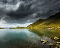 Stormy lake Royalty Free Stock Photo