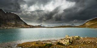 Stormy lake stock photos