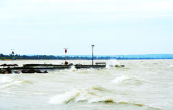 Stormy Lake Balaton Royalty Free Stock Images