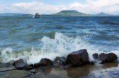 Stormy Lake Balaton, Hungary Stock Images