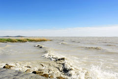 Stormy Lake Balaton , Hungary Royalty Free Stock Image