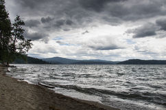Stormy Lake Coeur d' Alene Stock Photography