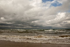 Stormy Lake Michigan Royalty Free Stock Photos