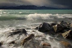 Stormy Lake Pukaki, New Zealand Stock Photos