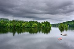 Stormy Lake Scene Royalty Free Stock Images