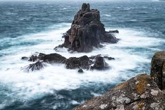 Stormy Lands End Royalty Free Stock Photography
