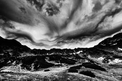 Stormy landscape in National Park Retezat Royalty Free Stock Images