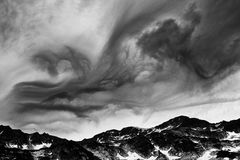 Stormy landscape in National Park Retezat Royalty Free Stock Image