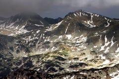 Stormy landscape in National Park Retezat Royalty Free Stock Photos