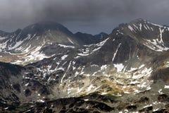 Stormy landscape in National Park Retezat Stock Image