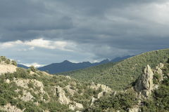Stormy landscape in Pyrenees Royalty Free Stock Image