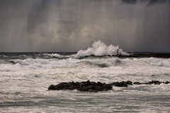 Stormy late afternoon at sea Stock Photography