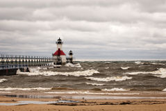 Stormy Lighthouse Royalty Free Stock Photo