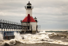 Stormy Lighthouse Stock Photos