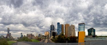Stormy Melbourne royalty free stock photos