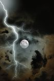 Stormy Moon. Moon on a stormy night in Florida stock photography