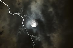 Stormy Moon2. Moon on a stormy night in Florida royalty free stock photos
