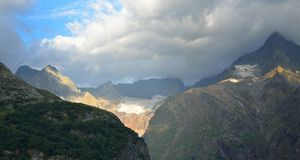 Stormy morning. This is stormy morning in Caucasus mountains in summer Stock Photo