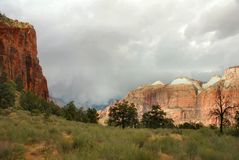 Stormy Morning, Zion Stock Photography