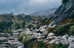 Stormy mountain landscape. Mount Rysy, Western Tatra Mountains, Poland stock image