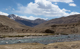 Stormy mountain river in valley in the foothills of the Fann mou Stock Photo