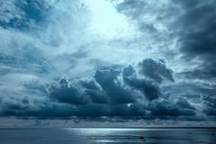 Stormy ocean, abstract natural backgrounds for your design Royalty Free Stock Photos