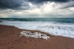 Stormy ocean coast Stock Image