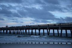 Stormy Ocean Pier Royalty Free Stock Photos