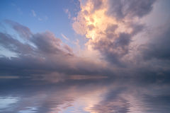 Stormy ocean sunrise. Koh Samui Island, Thailand Royalty Free Stock Images