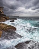Stormy Ocean with unrest sea and waves Stock Photo