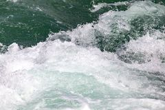 Stormy ocean water as a background. In the park in nature Stock Photos