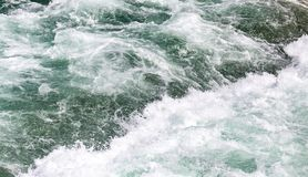 Stormy ocean water as a background. In the park in nature Royalty Free Stock Photos