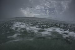 Stormy Ocean at Water level Royalty Free Stock Image