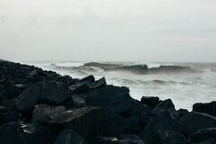 Stormy Ocean Waves Stock Photography