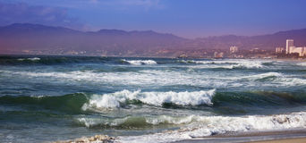 Stormy ocean waves. beautiful seascape. Royalty Free Stock Photography