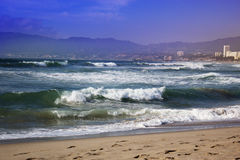 Stormy ocean waves. beautiful seascape. Royalty Free Stock Image