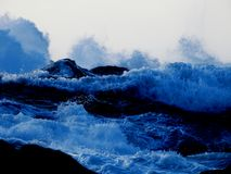 Stormy ocean waves. Heavy storm-generated waves Stock Photography