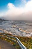 Stormy Oregon coastline. Stormy waves with fog rolling in along Oregon coastline Stock Images