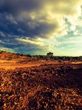 Stormy Outback. Scenic shot of Australian outback Royalty Free Stock Photo