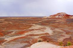 Stormy Painted Desert Stock Photography