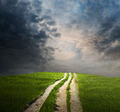Stormy Pathway Royalty Free Stock Photos
