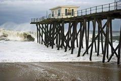 Stormy Pier Stock Image