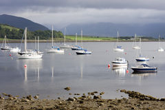 Stormy Port Bannatyne. Picture taken of boats moored off Port Bannatyne. This port is located on the Western Isle of Bute off mainland Scotland in the UK. It had Stock Images