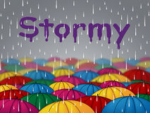 Stormy Rain Shows Wet Storms And Showers Royalty Free Stock Images