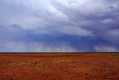 Stormy and Rainy Simpson Desert Stock Image