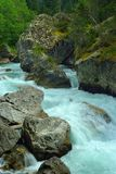 Stormy river Stock Photography