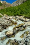 Stormy river Stock Photo