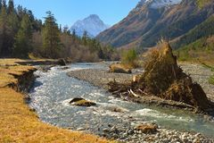 Stormy river Royalty Free Stock Photos