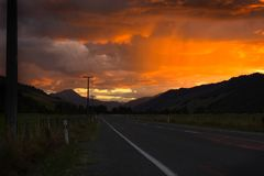 Stormy road Royalty Free Stock Images
