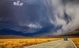 Stormy road stock photos